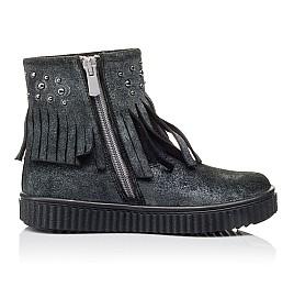 Детские демисезонные ботинки Woopy Orthopedic серые для девочек натуральный замш размер 28-36 (3871) Фото 5