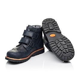 Детские демисезонные ботинки Woopy Orthopedic синие для мальчиков натуральный нубук размер 30-37 (3873) Фото 2
