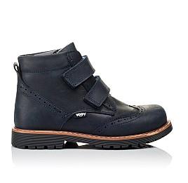 Детские демисезонные ботинки Woopy Orthopedic синие для мальчиков натуральный нубук размер 30-37 (3873) Фото 4