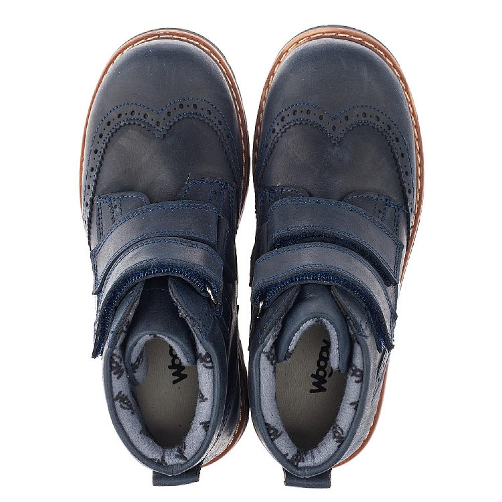 Детские демисезонные ботинки Woopy Orthopedic синие для мальчиков натуральный нубук размер 29-37 (3873) Фото 5