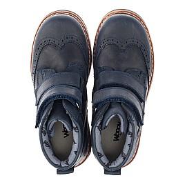 Детские демисезонные ботинки Woopy Orthopedic синие для мальчиков натуральный нубук размер 30-37 (3873) Фото 5