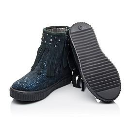 Детские демисезонные ботинки Woopy Orthopedic синие для девочек натуральный нубук размер 28-36 (3875) Фото 2