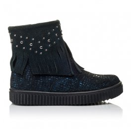 Детские демисезонные ботинки Woopy Orthopedic синие для девочек натуральный нубук размер 28-36 (3875) Фото 5
