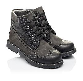 Детские демисезонные ботинки Woopy Orthopedic черные для мальчиков  натуральная кожа и нубук размер 31-37 (3876) Фото 1