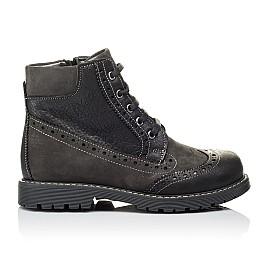Детские демисезонные ботинки Woopy Orthopedic черные для мальчиков  натуральная кожа и нубук размер 31-37 (3876) Фото 4