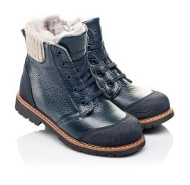 Детские зимние ботинки на меху Woopy Orthopedic синие для мальчиков  натуральная кожа размер 26-26 (3877) Фото 1