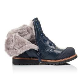 Детские зимние ботинки на меху Woopy Orthopedic синие для мальчиков  натуральная кожа размер 26-26 (3877) Фото 5