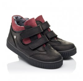 Детские демисезонные ботинки Woopy Orthopedic черные для мальчиков натуральный нубук размер 26-36 (3878) Фото 1