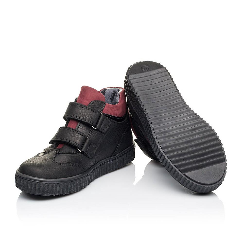 Детские демисезонные ботинки Woopy Orthopedic черные для мальчиков натуральный нубук размер 26-36 (3878) Фото 2