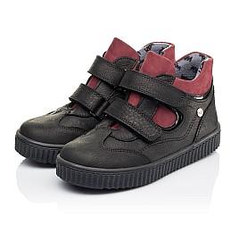 Детские демисезонные ботинки Woopy Orthopedic черные для мальчиков натуральный нубук размер 26-36 (3878) Фото 3