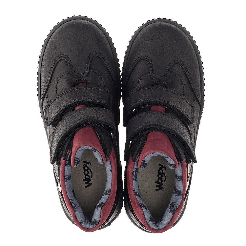 Детские демисезонные ботинки Woopy Orthopedic черные для мальчиков натуральный нубук размер 26-36 (3878) Фото 5