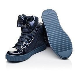 Детские демисезонные ботинки Woopy Orthopedic синие для девочек лаковая кожа, нубук размер 28-38 (3881) Фото 2