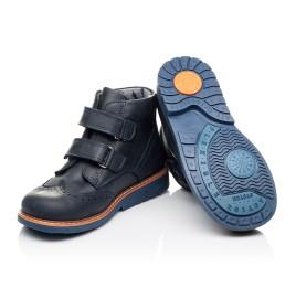 Детские демисезонные ботинки Woopy Orthopedic синие для мальчиков натуральный нубук размер 21-30 (3882) Фото 2