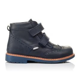 Детские демисезонные ботинки Woopy Orthopedic синие для мальчиков натуральный нубук размер 21-30 (3882) Фото 4