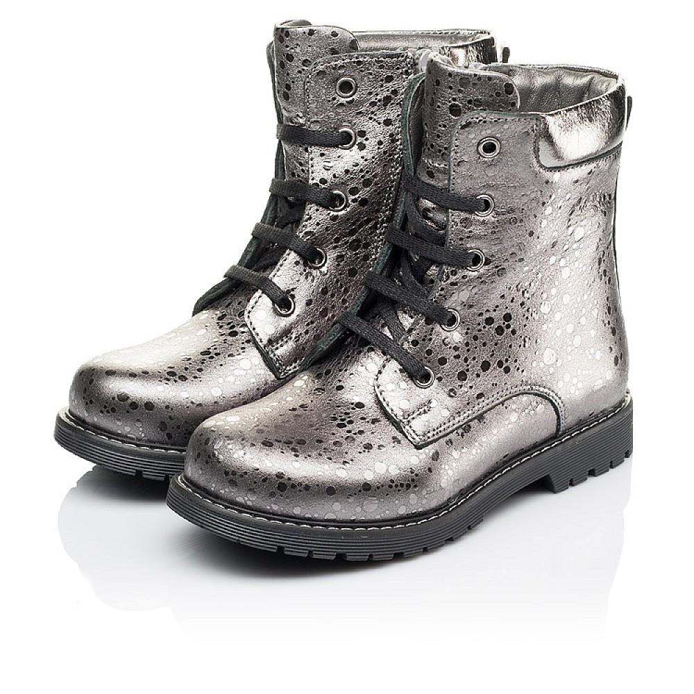 Детские зимние ботинки на меху Woopy Orthopedic серебряные для девочек натуральная кожа размер 26-36 (3884) Фото 3