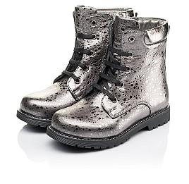 Детские зимние ботинки на меху Woopy Orthopedic серебряные для девочек натуральная кожа размер 28-31 (3884) Фото 3