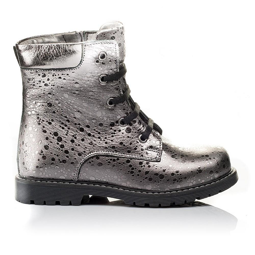 Детские зимние ботинки на меху Woopy Orthopedic серебряные для девочек натуральная кожа размер 26-36 (3884) Фото 4