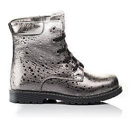 Детские зимние ботинки на меху Woopy Orthopedic серебряные для девочек натуральная кожа размер 28-31 (3884) Фото 4
