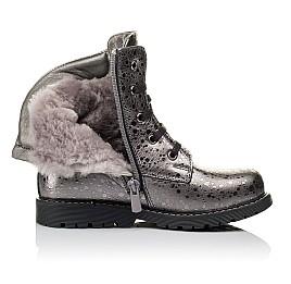 Детские зимние ботинки на меху Woopy Orthopedic серебряные для девочек натуральная кожа размер 28-31 (3884) Фото 5