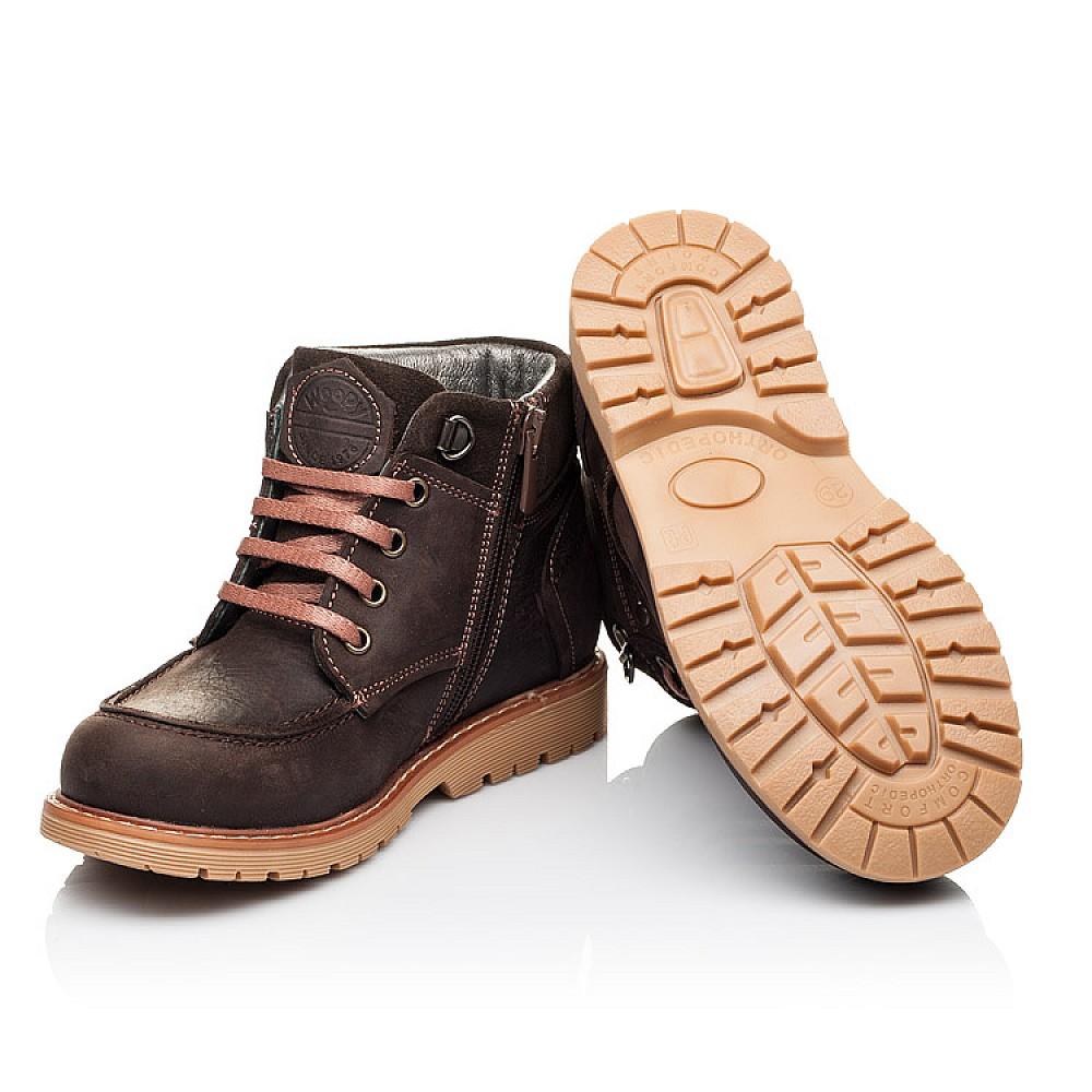 Детские демисезонные ботинки Woopy Orthopedic коричневые для девочек натуральная кожа размер 28-34 (3886) Фото 2