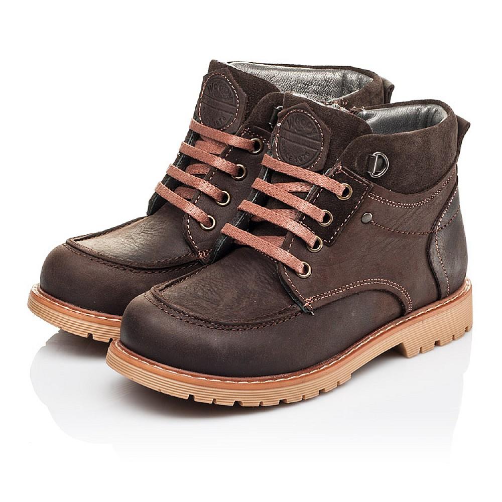 Детские демисезонные ботинки Woopy Orthopedic коричневые для девочек натуральная кожа размер 28-34 (3886) Фото 3