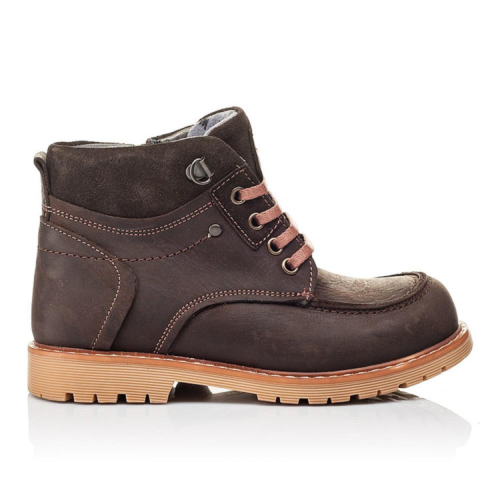 Детские демисезонные ботинки Woopy Orthopedic коричневые для девочек натуральная кожа размер 28-34 (3886) Фото 4