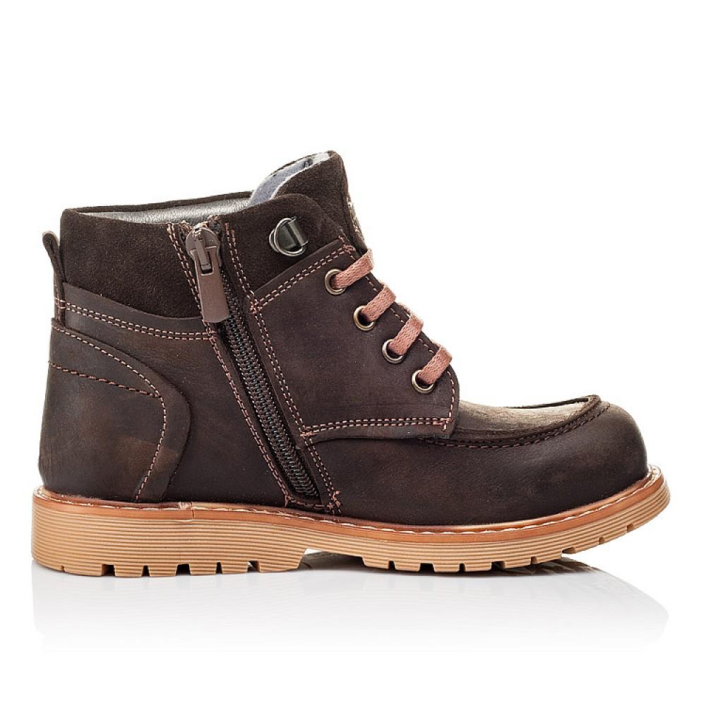 Детские демисезонные ботинки Woopy Orthopedic коричневые для девочек натуральная кожа размер 28-34 (3886) Фото 5