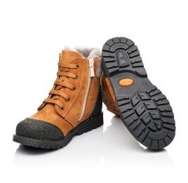 Детские зимние ботинки на меху Woopy Orthopedic рыжие для мальчиков натуральный нубук размер 25-31 (3887) Фото 2
