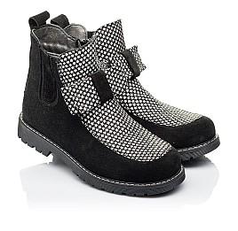 Детские демисезонные ботинки Woopy Orthopedic черные для девочек натуральная замша размер 32-38 (3889) Фото 1