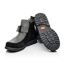 Детские демисезонные ботинки Woopy Orthopedic черные для девочек натуральный замш размер 32-38 (3889) Фото 2
