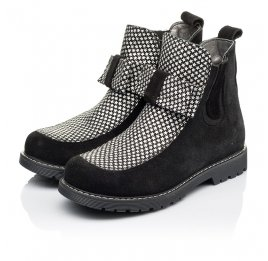 Детские демисезонные ботинки Woopy Orthopedic черные для девочек натуральный замш размер 32-38 (3889) Фото 3