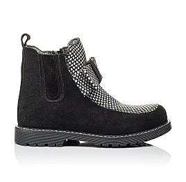 Детские демисезонные ботинки Woopy Orthopedic черные для девочек натуральный замш размер 32-38 (3889) Фото 4