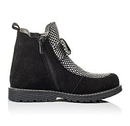 Детские демисезонные ботинки Woopy Orthopedic черные для девочек натуральный замш размер 32-38 (3889) Фото 5