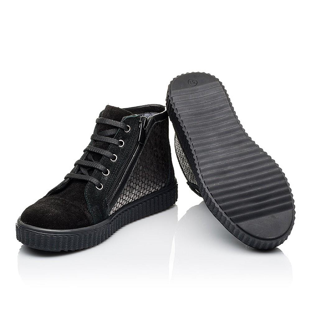 Детские демисезонные ботинки Woopy Orthopedic черные для девочек натуральная замша размер 30-40 (3890) Фото 2