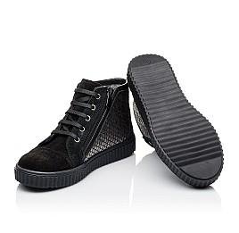 Детские демисезонные ботинки Woopy Orthopedic черные для девочек натуральный замш размер 30-40 (3890) Фото 2
