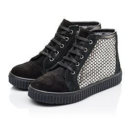 Детские демисезонные ботинки Woopy Orthopedic черные для девочек натуральный замш размер 30-40 (3890) Фото 3