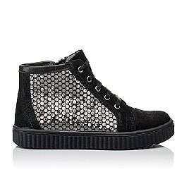 Детские демисезонные ботинки Woopy Orthopedic черные для девочек натуральный замш размер 30-40 (3890) Фото 4
