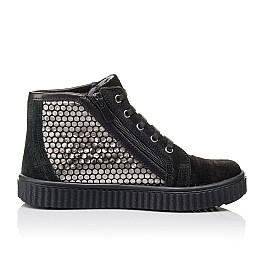 Детские демисезонные ботинки Woopy Orthopedic черные для девочек натуральный замш размер 30-40 (3890) Фото 5