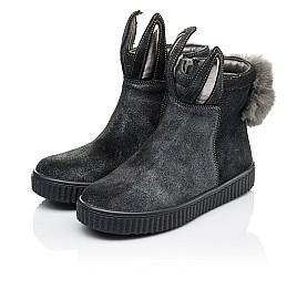 Детские демисезонные ботинки Woopy Orthopedic серые для девочек натуральный замш размер 23-33 (3891) Фото 3
