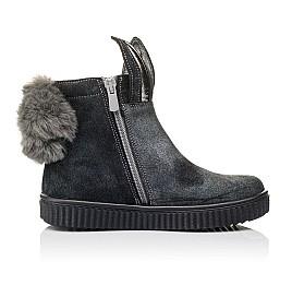 Детские демисезонные ботинки Woopy Orthopedic серые для девочек натуральный замш размер 23-33 (3891) Фото 5