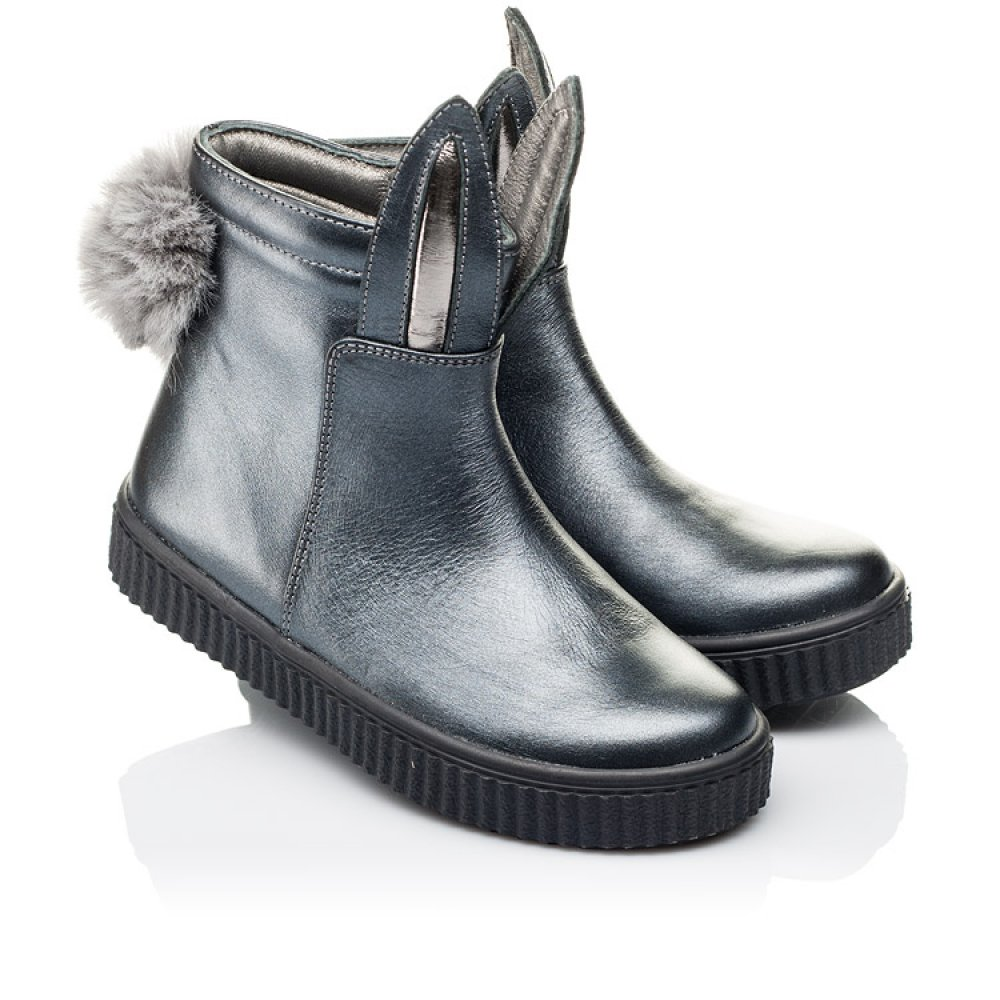 Детские демисезонные ботинки Woopy Orthopedic серые для девочек натуральная кожа размер 23-33 (3892) Фото 1