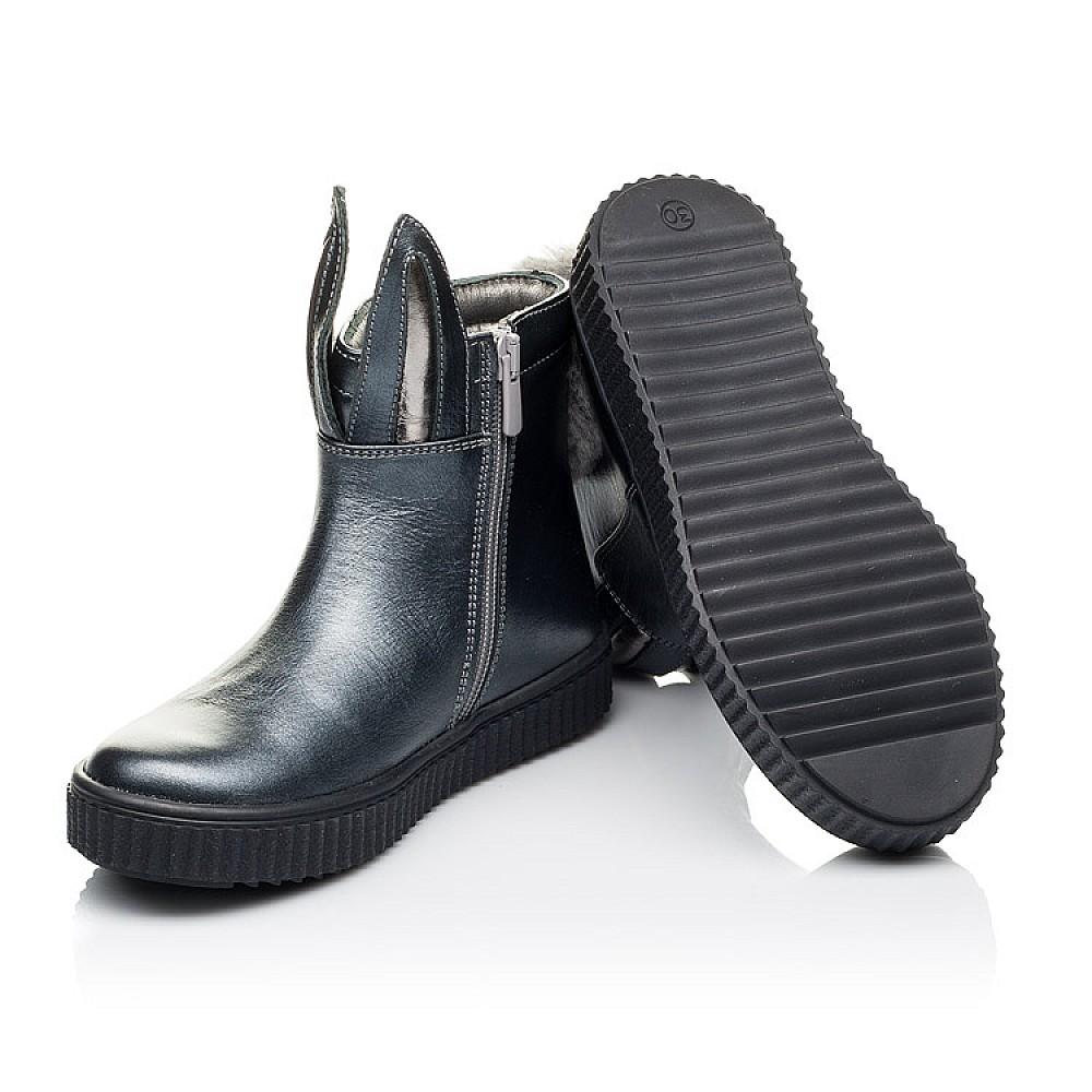 Детские демисезонные ботинки Woopy Orthopedic серые для девочек натуральная кожа размер 23-33 (3892) Фото 2