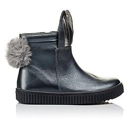 Детские демисезонные ботинки Woopy Orthopedic серые для девочек  натуральная кожа размер 23-33 (3892) Фото 4