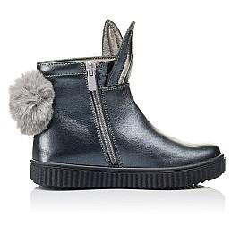 Детские демисезонные ботинки Woopy Orthopedic серые для девочек  натуральная кожа размер 23-33 (3892) Фото 5