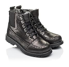 Детские демисезонные ботинки Woopy Orthopedic серебряные для девочек  натуральная кожа размер 26-39 (3893) Фото 1