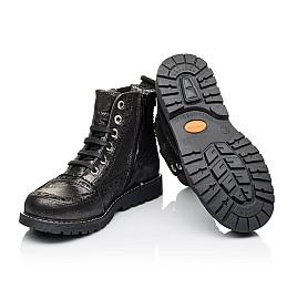 Детские демисезонные ботинки Woopy Orthopedic серебряные для девочек  натуральная кожа размер 26-39 (3893) Фото 2