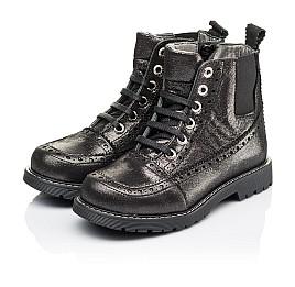 Детские демисезонные ботинки Woopy Orthopedic серебряные для девочек  натуральная кожа размер 26-39 (3893) Фото 3