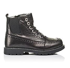 Детские демисезонные ботинки Woopy Orthopedic серебряные для девочек  натуральная кожа размер 26-39 (3893) Фото 4