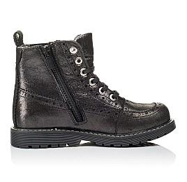 Детские демисезонные ботинки Woopy Orthopedic серебряные для девочек  натуральная кожа размер 26-39 (3893) Фото 5