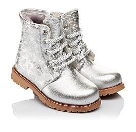 Детские зимние ботинки на меху Woopy Orthopedic серебряные для девочек натуральная кожа размер 25-25 (3896) Фото 1